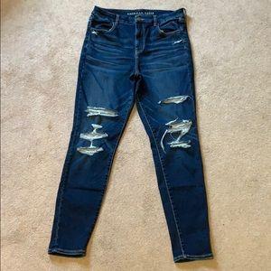 Women's High-Waisted Blue Jeans
